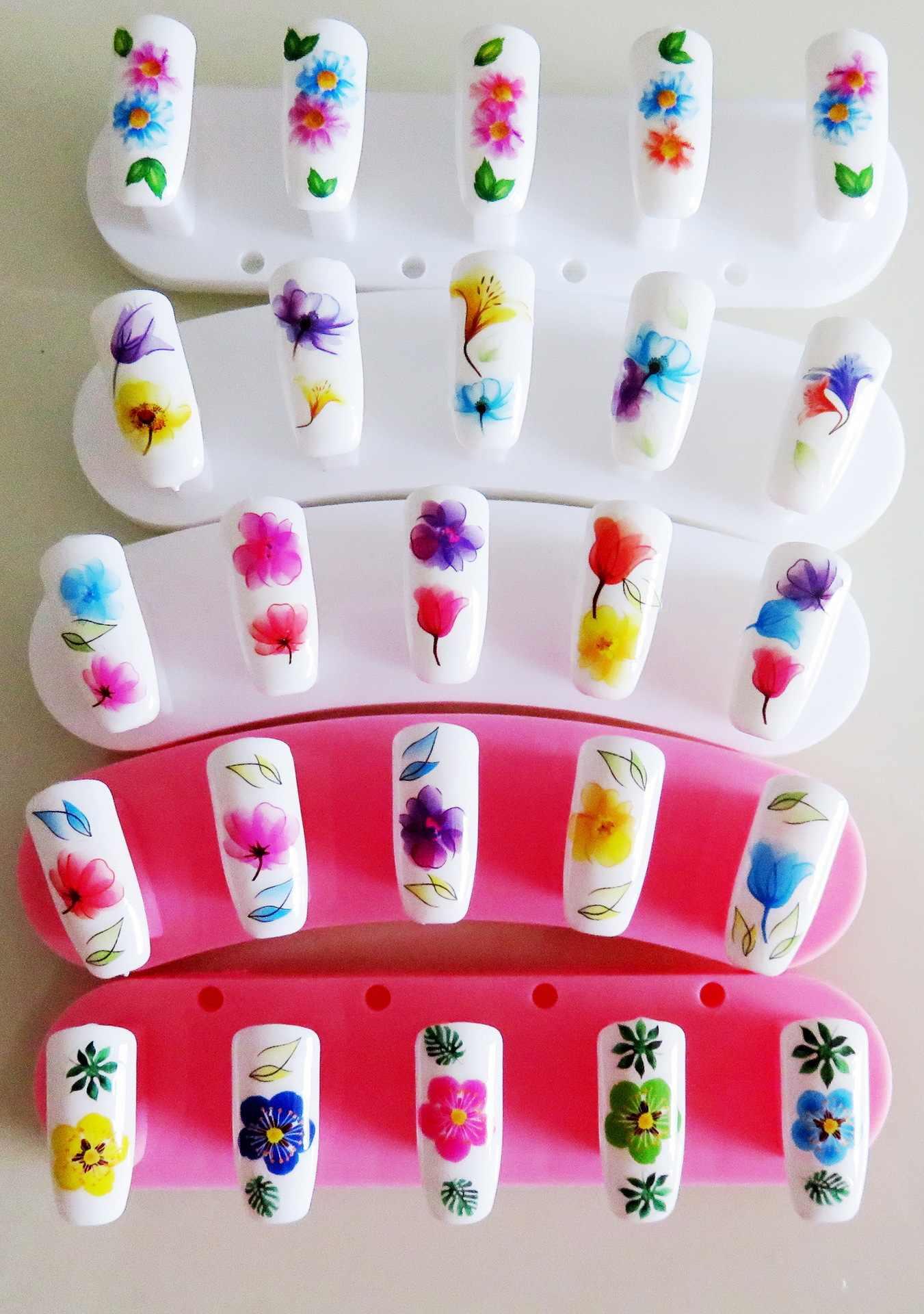 Новые 3D наклейки для ногтей красивый зонт задний клей наклейки для ногтей, дети украшения ногтей инструменты 29