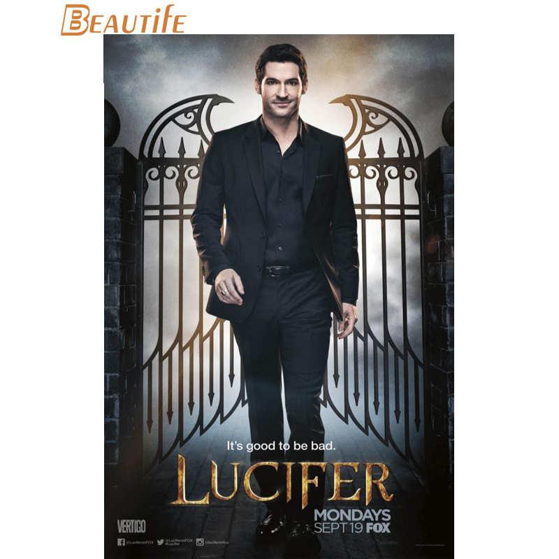 Hot Sale Custom  Lucifer Season 3  Poster Home Decoration Fashion Silk Fabric Wall Poster Custom  Poster