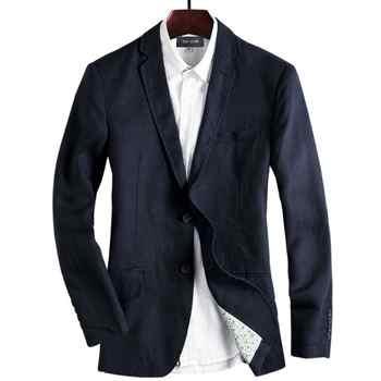 New arrivla fashion men autumn Spring Summer Linen Cotton Suit Men Thin Mens Casual Jacket high quality plus size M L XL 2XL 3XL
