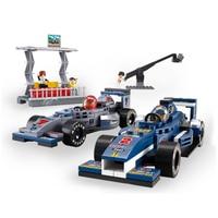 B0355 SLUBAN Auto Da Corsa di F1 Corse Concorso Modello Building Blocks Enlighten Action Figure Giocattoli Per I Bambini Compatibile Legoe