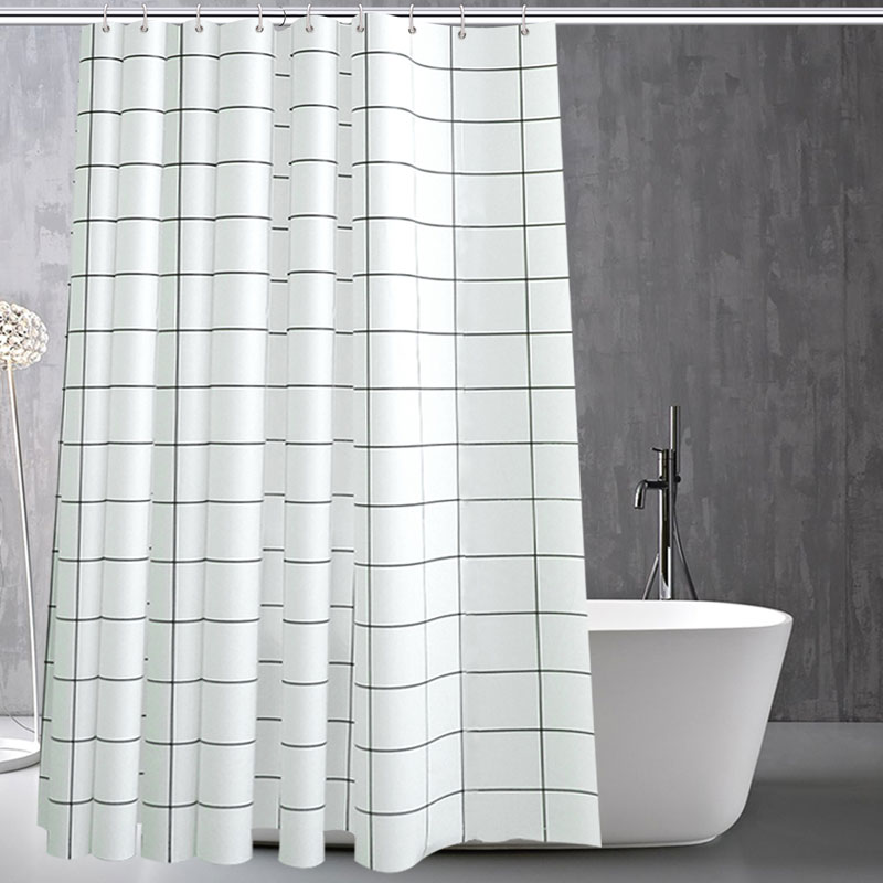 Bathroom Curtain For The Waterproof Mildew Bath Simple Fabric Shower Curtains In From Home Garden On Aliexpress