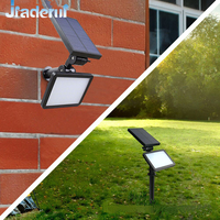 Jiaderui LED Garden Solar Lamp Spotlight Wall Lamps IP65 Waterproof Solar Lights 48Led Outdoor Emergency Lamp