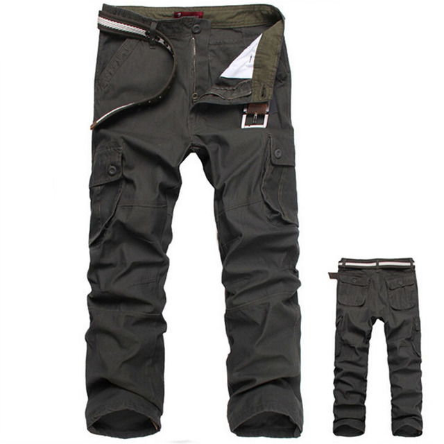 2df12217 2017 Quality Cotton Men Army Military OutwearTactical Pants Plus Size 30 44  Men Cargo Pants Army Pant jeans masculino-in Casual Pants from Men's ...
