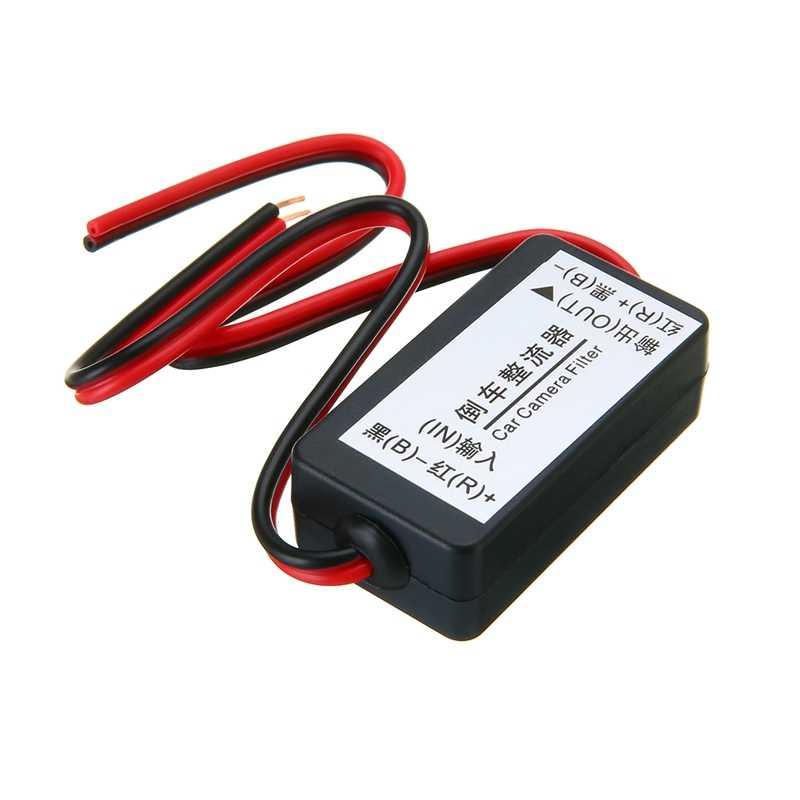 1 PC 12V DC Power Relay Kapasitor Filter Konektor Rectifier untuk Mobil Rear View Cadangan Kamera Rectifier Auto Mobil filter Kamera