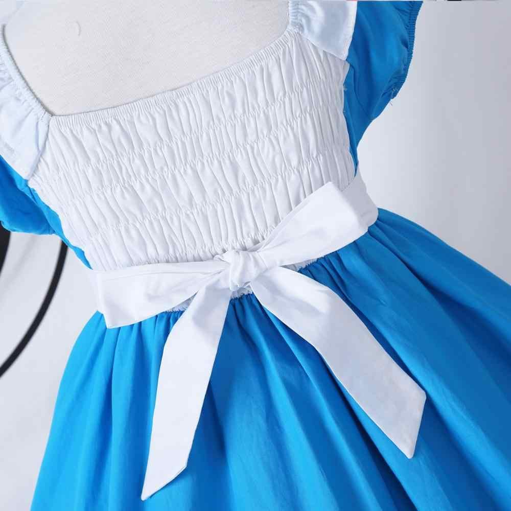 Алиса в стране чудес; костюмы для маленьких девочек; платье принцессы; детская Праздничная верхняя одежда