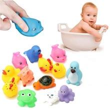 Скрипучий squeeze купания прекрасные смешанные поплавок животные резиновые красочные мягкие ребенка