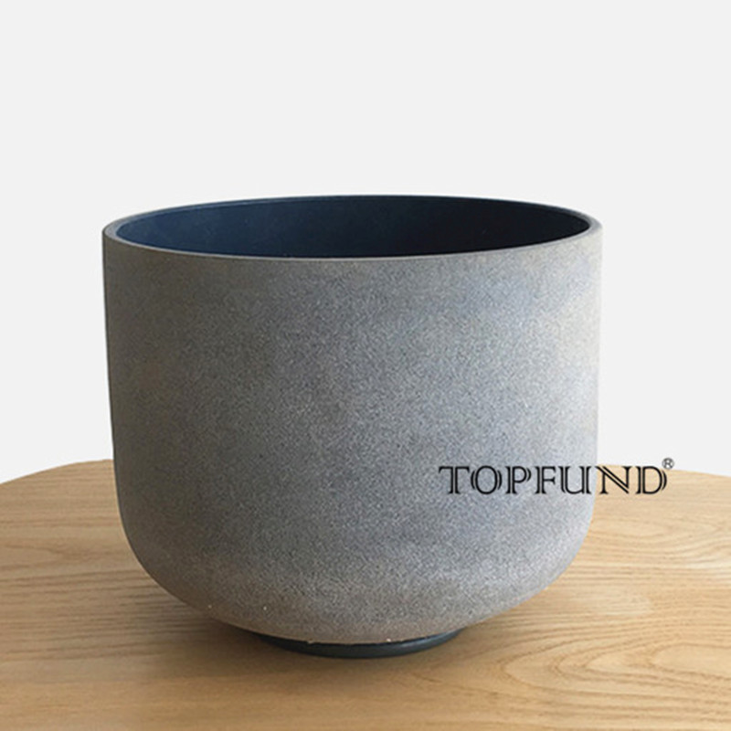 TOPFUND Indigo Color Frosted Quartz Crystal Singing Bowl Perfect Pitch A Third Eye Chakra 10 -local shipping topfund indigo color frosted quartz crystal singing bowl 432hz tuned a third eye chakra 10 local shipping