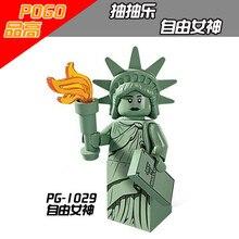 Venta única Toy Story LegoINGlys Woody Buzz Lightyear Estatua de la  libertad Rocket Andy mejor regalo para los niños 1ccfdab46b0