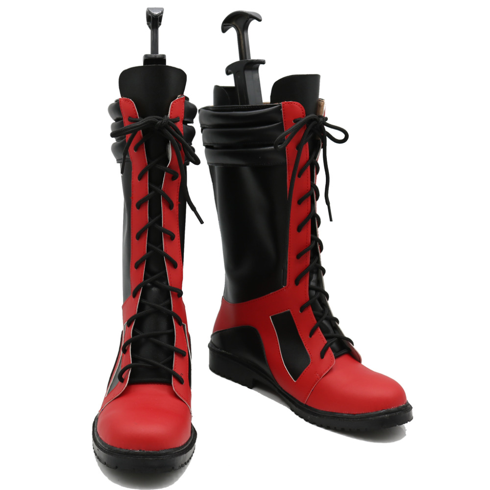 Deadpool Cosplay Shoes Boots Superhero Halloween Carnival Party Costume Accessories For Men
