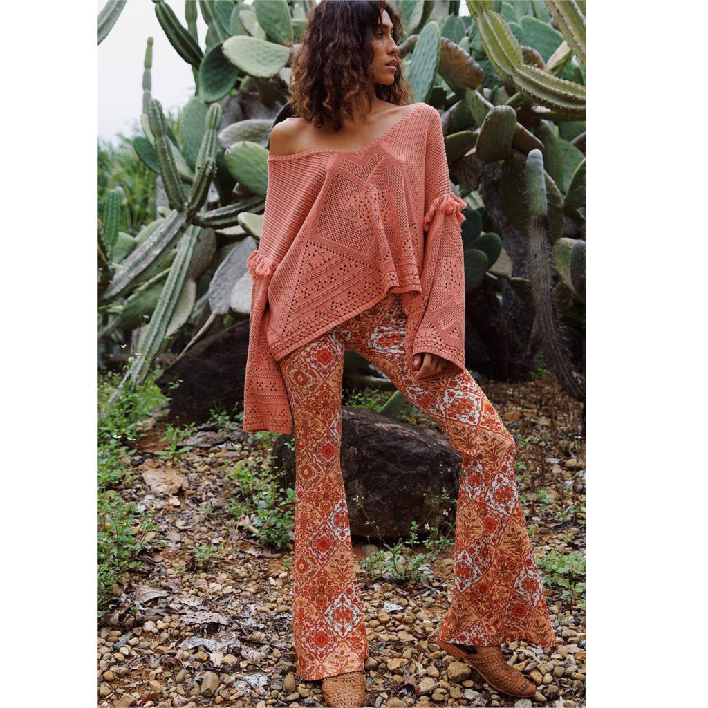 Jastie Women Bells Pants Boho Chic Floral Print Long Trousers Slim Flare  High Waist Pants Summer 2019 Pantalon Femme Trouser