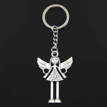 New Keychain 58x38mm angel Pendants DIY Men Car Key Chain Ring Holder Keyring Souvenir Jewelry Gift(China)