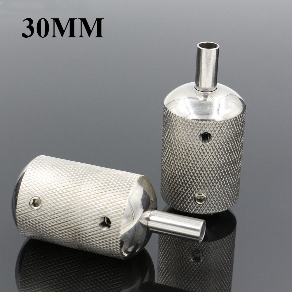 1PCS 30MM Stainless Steel Tattoo Grip With Back Stem Professional For Tattoo Machine Grips Tattoo Tubes Tips Tool Free Shipping