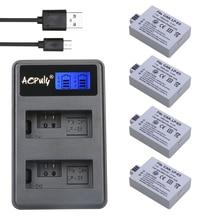 4* 1800mAh LP-E5 LP E5 LPE5 Batteries + LCD USB DUAL Charger for Canon EOS 450D 500D 1000D Digital KISS X2 X3 F Rebel XS T1i XSi