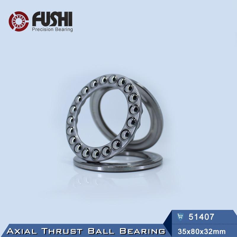 51407 Thrust Bearing 35x80x32 mm ABEC-1 ( 1 PC ) Axial 51407 Thrust Ball Bearings 8407 5307 open bearing 35 x 80 x 34 9 mm 1 pc axial double row angular contact 5307 3307 3056307 ball bearings