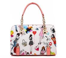 купить ONEFULL shoulder bag women new summer chain beautiful women print shoulder bags casual leisure handbag онлайн