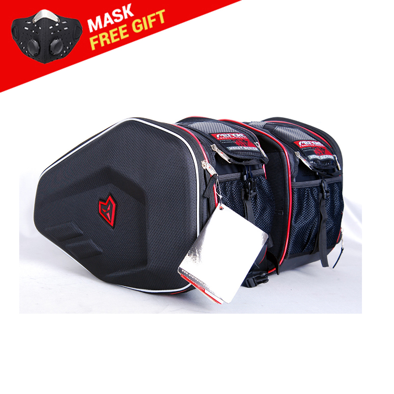 Amulets MB-016 Motorcycle Bag Bilateral Package Saddle Bag Bilateral Package Side Bags Waterproof Motorcycle Saddlebags Helmet duhan motorcycle waterproof saddle bags riding travel luggage moto racing tool tail bags black multifunction side bag 1 pair