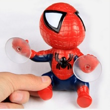 16CM action figure Spider Man Toy Climbing Spiderman Window Sucker for Spider-Man Doll Car Home Interior Decoration
