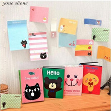 1PIECE  stationery cartoon  small animals can be torn off four times pad sticky stickers  office supplies Notebook Stationery