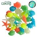 50 шт. цветные светящиеся раковины в форме морской звезды  светящиеся камни  декоративные для сада  аквариума  бассейна  пейзажа