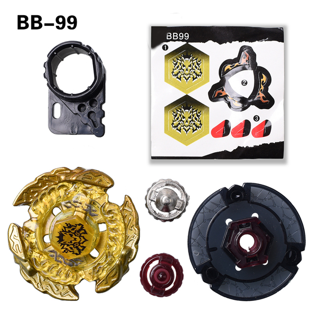 The Magic Throne Beyblade Metal 4D BB99 Launcher Spinning Top Fight Fusion Gift Toys For Kids #E