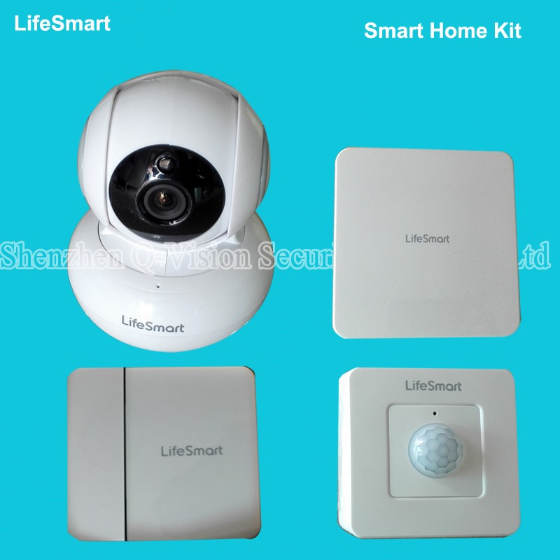 LifeSmart-Wireless-Remote-Control-Home-Security-Smart-Automation-Kit-WIFI-IP-Plug-Door-Sensor-Motion-Detector