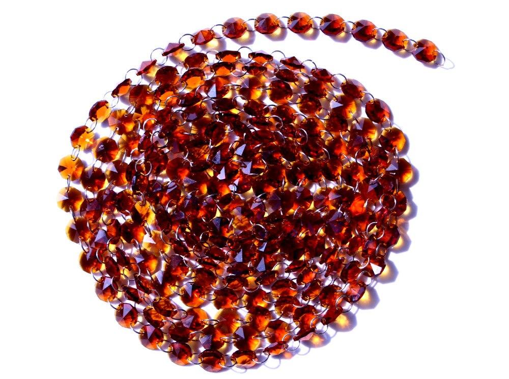 Garland Chakra Spectra 12Fet gyémántprizmák barna üveg kristály - Világítási kiegészítők