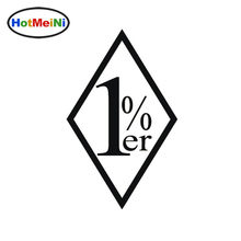 HotMiNi Car Sticker 1 Percenter Car Styling Truck Window Door Bumper Vinyl Decal JDM laptop One Percenter 1%er Outlaw Ha 13cm(China)
