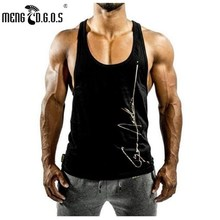 2017 Fitness Men Bodybuilding Tank Tops Slim Fit V-neck Tops Sleeveless Vest Gold's Gyms Clothing Casual Workout Clothes