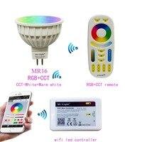 Mi.light MR16 4W RGB+CCT Led Bulb Spotlight AC/DC 12V+2.4G WIFI Ibox2 Led Controller+RGB+CCT Remote Led Controller For Led Lamp