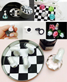 Chess Board Magnetic Nail Tip Crystal Stand 10 Pcs Set Luxury Salon Display Holder