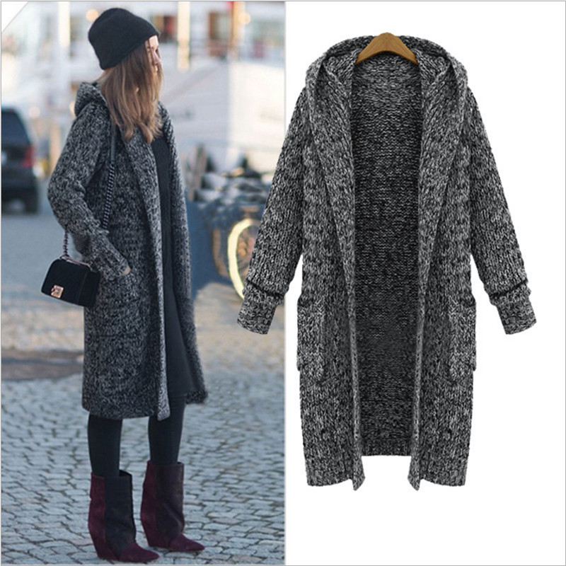 Popular Hooded Cardigan Sweater Coat Plus Size-Buy Cheap Hooded ...