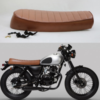 2017 NEW MASH MUTT Brand Handmade BRAT style CAFE RACER Seat Vintage Motorcycle Modified Flat Seats Brown