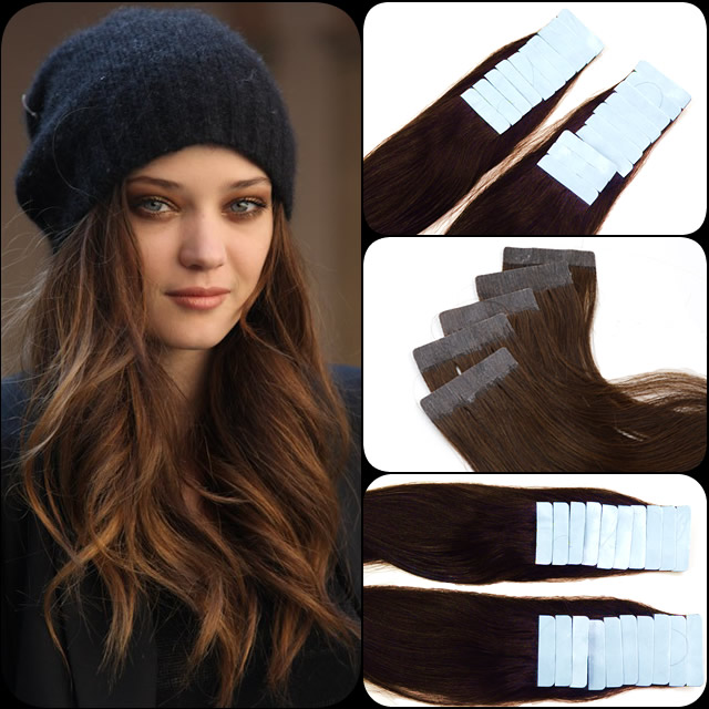 Xcsunny 14 24 Pu Extensions Hair 20pcs 100 Hair Tape In