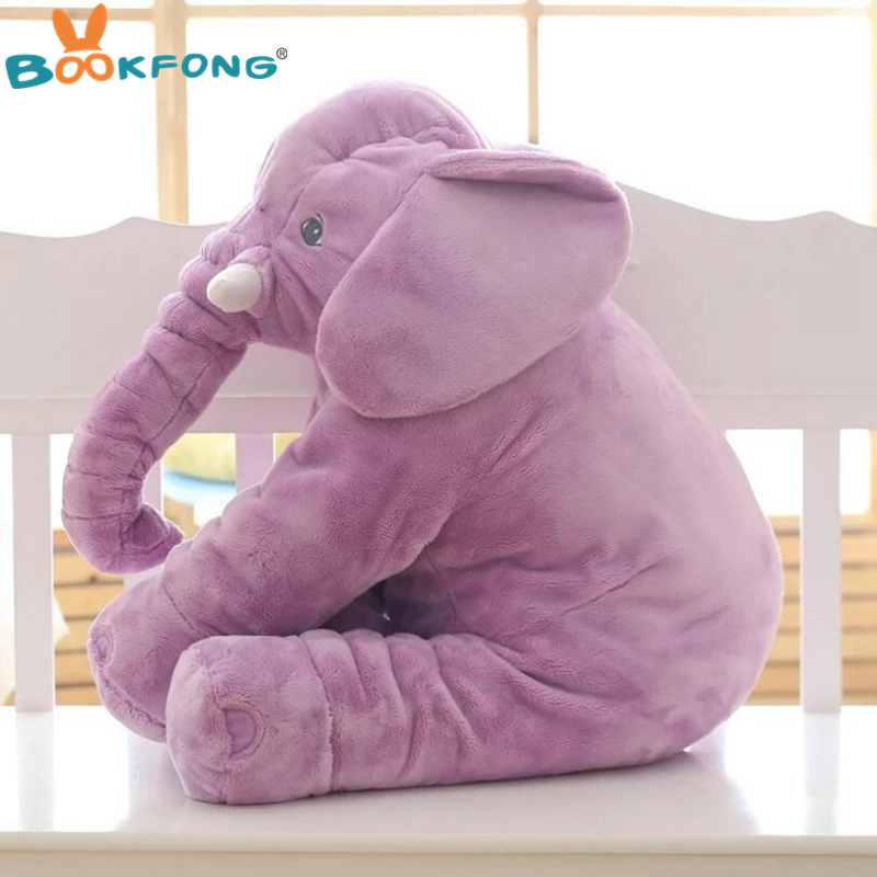 40cm/60cm Large Plush Elephant Doll Kids Sleeping Soft Back Cushion Cute Stuffed Elephant Baby Accompany Doll Xmas Gift #5
