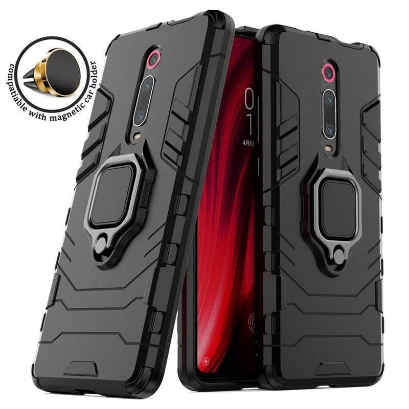 RedmiK20 Pro Caso Xiaomi Redmi K20 Pro Caso Robô De Metal Anel de Suporte Do Telefone Do Carro para Funda K20 Redmi Caso Redmi K 20 Pro K20 K20Pro