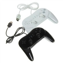 2pcs lot Free shipping Wired Classic Controller Pro Game cube controller Joystick Gamepad with Grips for