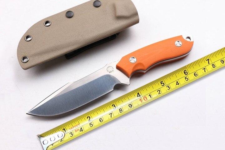 Toplu Hot Bolte Fixed Blade font b Knife b font D2 Blade G10 Handle Survival font