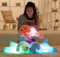 FRUOMAN 50CM Tall Luminous Stuffed LED Light Up Plush Glow Teddy Dog Puppy Auto 7 Color