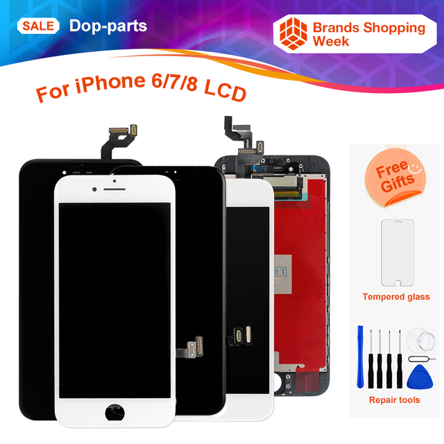 free shipping 007a1 4815f Aliexpress.com : Buy Factory Price For iPhone 6 6 Plus 6s 7 8g LCD Display  Touch Screen LCD Assembly Digitizer Replacement+tools+tempered glass from  ...
