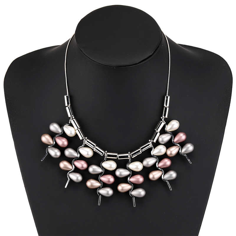 2019 New Arrivals Collares De Moda Unique Choker Tassel Necklaces Collier Pearl Necklace Women Nickel Free Dropshipping Kolye