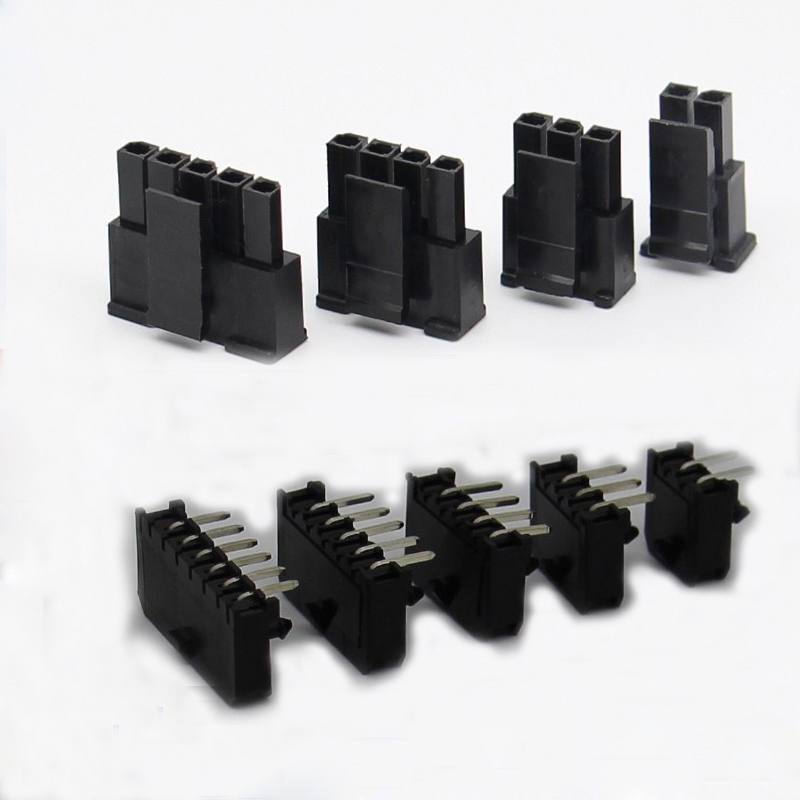 10 Sets 3.0 Pitch 43030 Connector Plug Socket Terminal Single Row Bent Needle 90 Degrees For PCB Circuit Board
