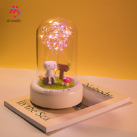 Novelty Creative Bluetooth Speaker Romantic Atmosphere LED Night Light for Girls Holiday Gifts Dream Wishing Bedroom Bedside LED