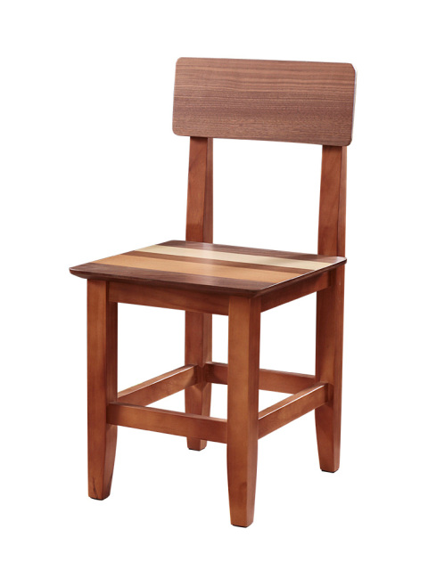Modern Colored Wood Dining Chair With Wood Seat Simple Style ...