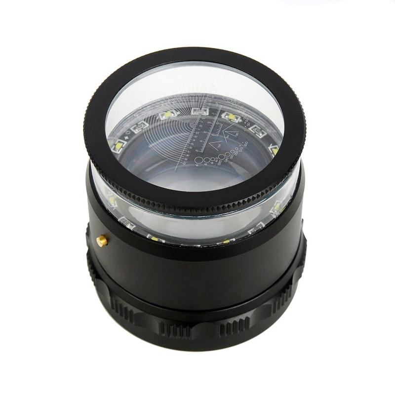 10X с подсветкой Фокус регулируемый цилиндрическая Лупа измерения увеличительное стекло Multi весы Точность калибровки