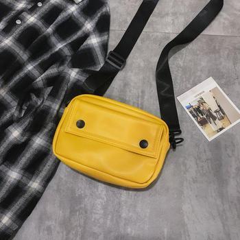 Messenger Bag Fashion Solid Color Girl Small Square Bag Simple Shoulder Bag 9