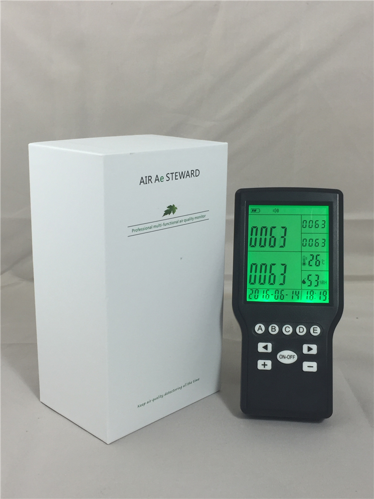 Digital formaldehyde meter formaldehyde detector air quality control digital indoor air quality carbon dioxide meter temperature rh humidity twa stel display 99 points made in taiwan co2 monitor
