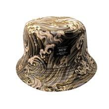 2019 nuevo estilo Unisex cubo sombrero hombres mujeres Bob gorras Hip Hop  Gorro verano Sol de Panamá tapa triste muchachos Doble. 6637c4e1586