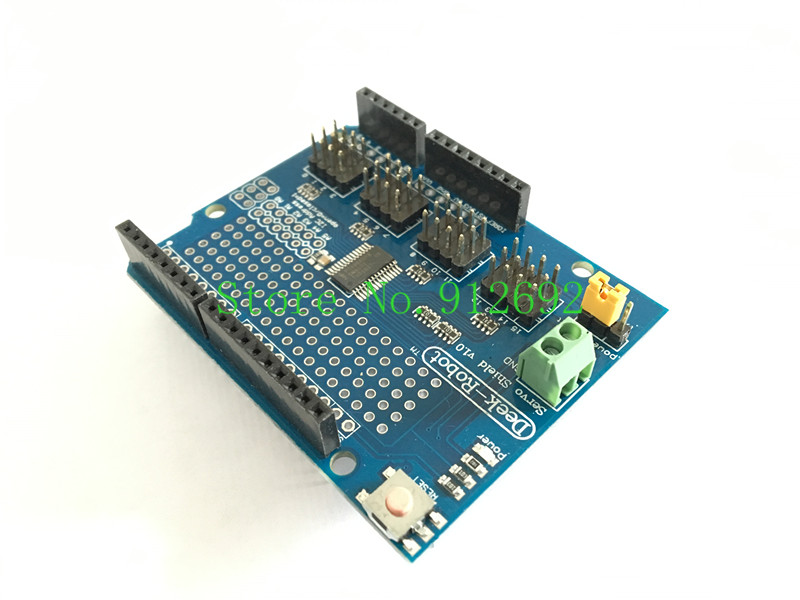Integrated Circuits Original 16 Channel 12-bit Pwm/servo Driver-i2c Interface-pca9685 For Arduino Or Raspberry Pi Shield Module Servo Shield