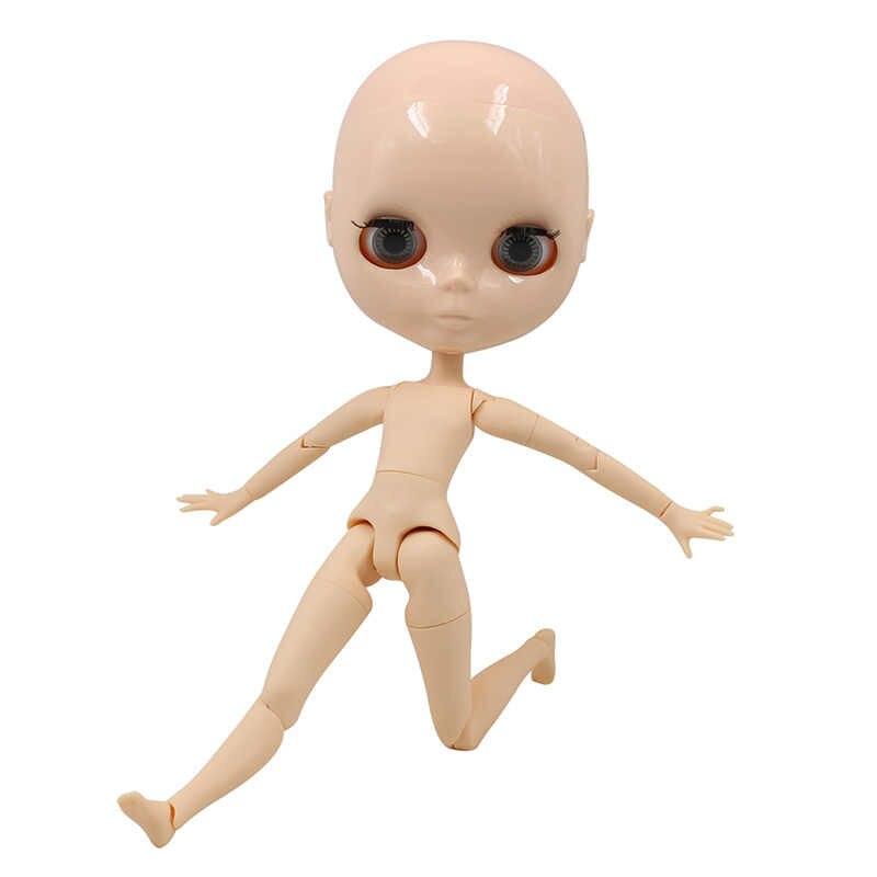 Фабрика blyth кукла мальчик тело лысый голова натуральная кожа 30 см без клея, кожа головы свободная
