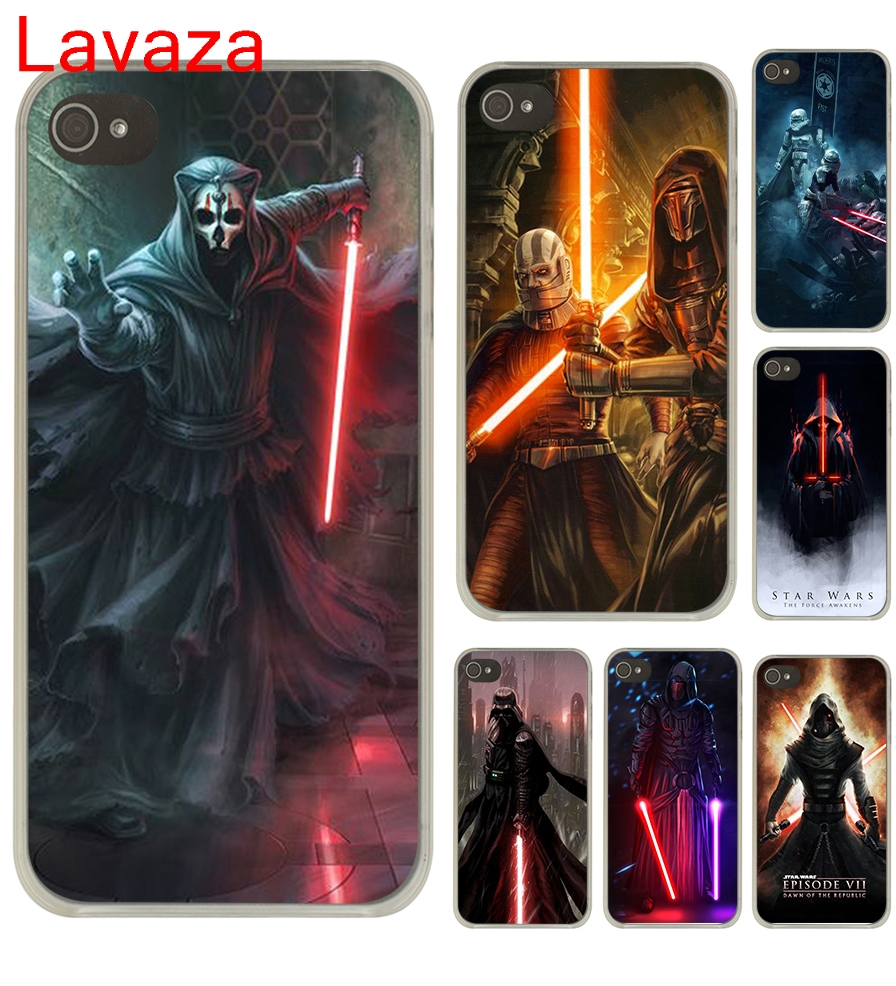 Lavaza Star Wars new lightsaber Hard Transparent Case Cover for iPhone 4 4S